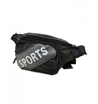 Практичная мужская сумка на пояс, 9475 grey, серый