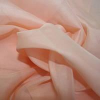 Тюль вуаль (шифон), Турция, цвет розовый коралл