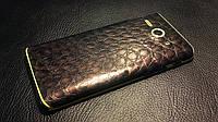 Декоративная защитная пленка для Huawei C8813D аллигатор коричневый