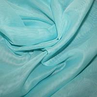 Тюль вуаль (шифон), Турция, цвет светлая голубая бирюза