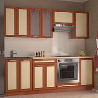 Кухонный гарнитур МДФ 2,2 метра из 8 модулей светлая (кухонный комплект мебели)