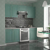 Кухонный гарнитур 2 метра из 5 модулей бирюзовая(кухонный комплект мебели)