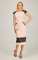Модное платье карманы-обманки и вставочка на юбке из кружева