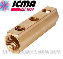 Простой коллектор 3/4*1/2  3 выхода ICMA Арт.1102