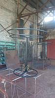 Вешалка кованая из черного металла