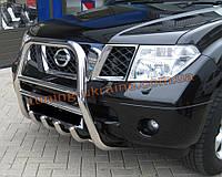 Защита переднего бампера кенгурятник высокий D60 на Nissan Pathfinder 2005-2010