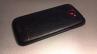 Декоративная защитная пленка для HTC One S кожа черная