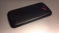 Декоративна захисна плівка для HTC One S шкіра чорна, фото 1