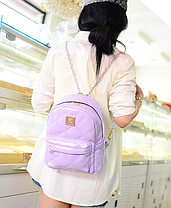 Модный глянцевый рюкзак красный, фото 2