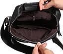 Мужская кожаная сумка 300124 черная, фото 9