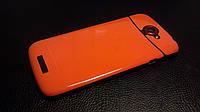 Декоративная защитная пленка для HTC One S пленка оранж, фото 1