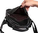 Мужская кожаная сумка 300124 черная, фото 7