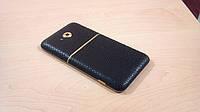 Декоративна захисна плівка для HTC One XC рептилія чорна, фото 1