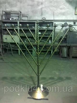 Металлический светильник Менора, фото 2