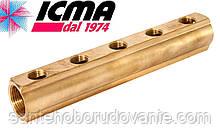 Простий колектор 3/4*1/2 5 виходів ICMA Арт.1102
