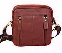 Кожаная сумка красного цвета для мужчин 30109, фото 5