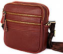 Кожаная сумка красного цвета для мужчин 30109, фото 2