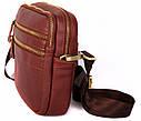Кожаная сумка красного цвета для мужчин 30109, фото 3
