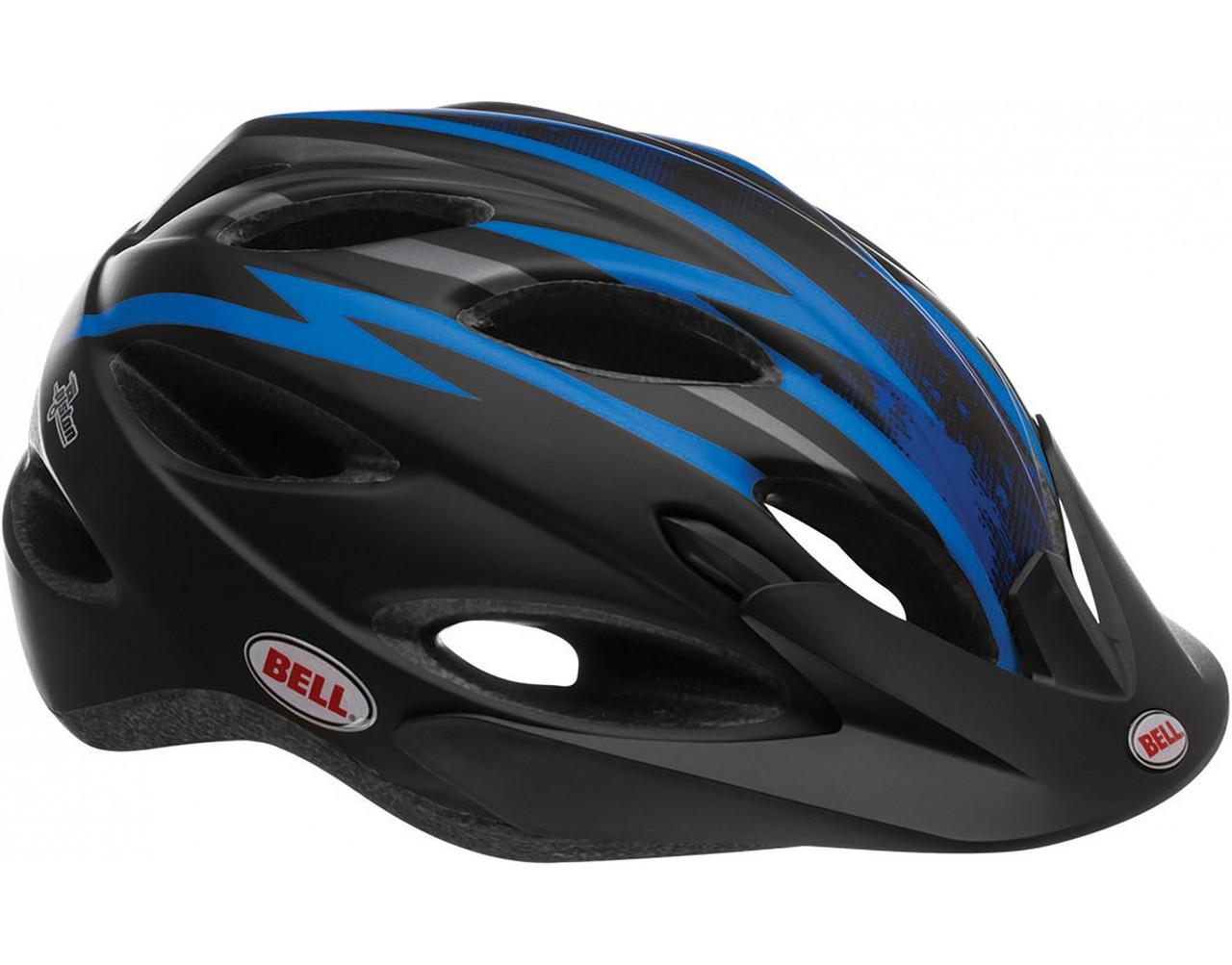 Велошлем Bell Piston матовый чёрный/синий Zenith, Uni (54-61) (GT)