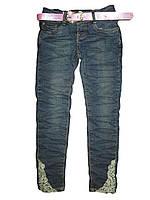 Стильные подростковые джинсы для девочек 134-164р. F&D DY-1580.