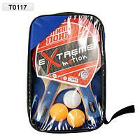 Теніс настільний T0117 2 ракетки 3 мячики в чохлі 2515см 7a0ce00733754
