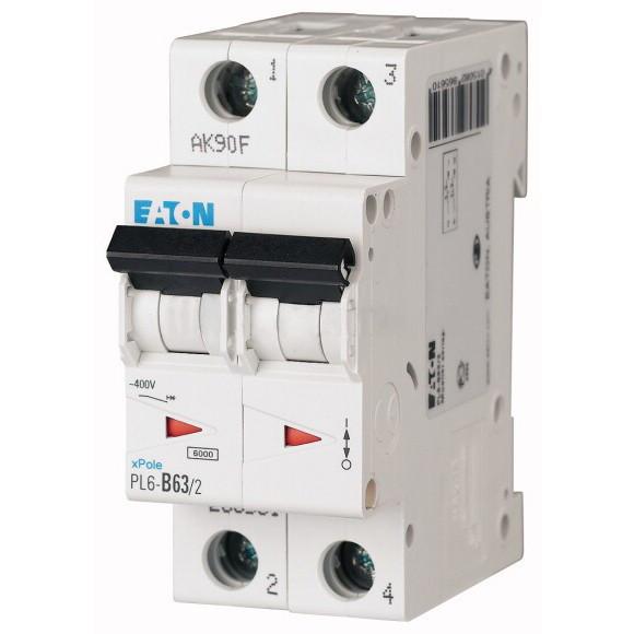 Автоматический выключатель Eaton (Moeller) PL6-C63/2 (286573)
