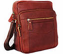 Мужская сумка через плечо красного цвета 30111, фото 5