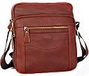 Мужская сумка через плечо красного цвета 30111, фото 7