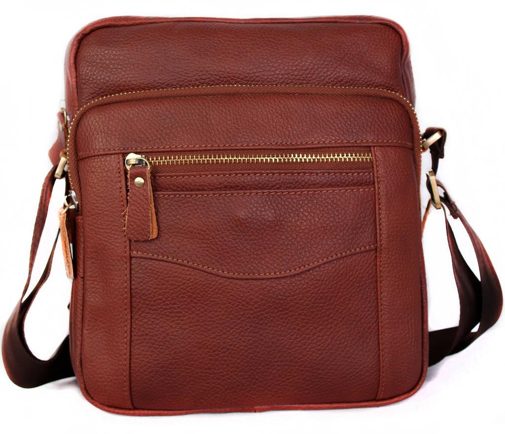 Мужская сумка через плечо красного цвета 30111