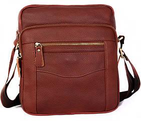 Мужская кожаная сумка 30111 коричневая