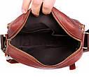Мужская сумка через плечо красного цвета 30111, фото 3