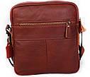 Мужская сумка через плечо красного цвета 30111, фото 4