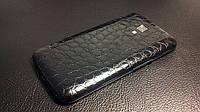 Декоративна захисна плівка для LG P715 Optimus L7 2 Dual алігатор чорний, фото 1