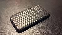 Декоративна захисна плівка для LG P715 Optimus L7 2 Dual карбон кубик чорний, фото 1