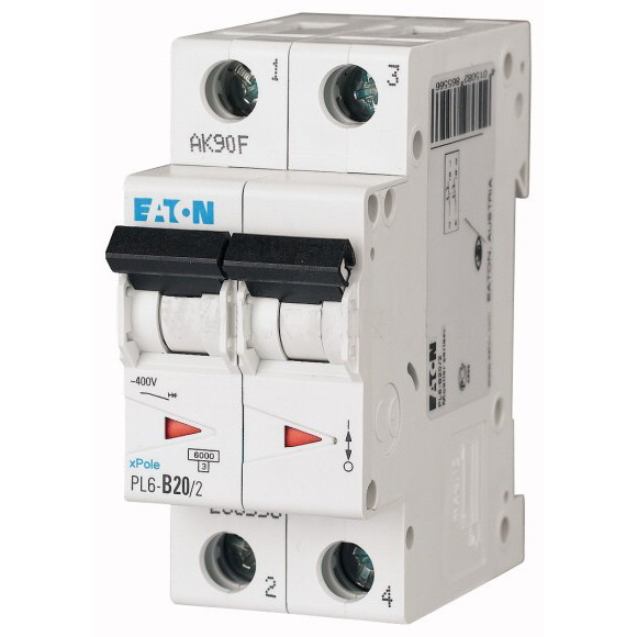 Автоматический выключатель Eaton (Moeller) PL6-C20/2 (286568)