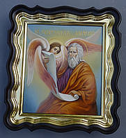 Фигурный киот для иконы с внутренней золочёной рамкой., фото 1