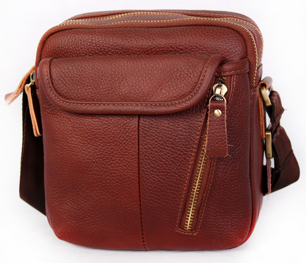Мужская кожаная сумка 30114 коричневая