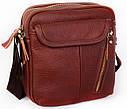 Мужская кожаная сумка 30114 коричневая, фото 2