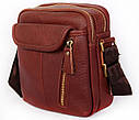 Мужская кожаная сумка 30114 коричневая, фото 3