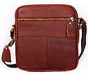Мужская кожаная сумка 30114 коричневая, фото 4