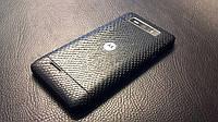 Декоративна захисна плівка для Motorola Droid XT788 рептилія чорна, фото 1