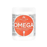 Маска для волос с комплексом Омега-6 и маслом макадамии Kallos Cosmetics Hair Omega Mask 1000 мл к1152