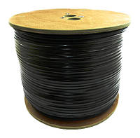 Dialan RG59 Cu 0,8+2x0,75 мм c питанием Чёрный 305 м