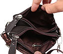 Мужская кожаная сумка 300142 коричневая, фото 4