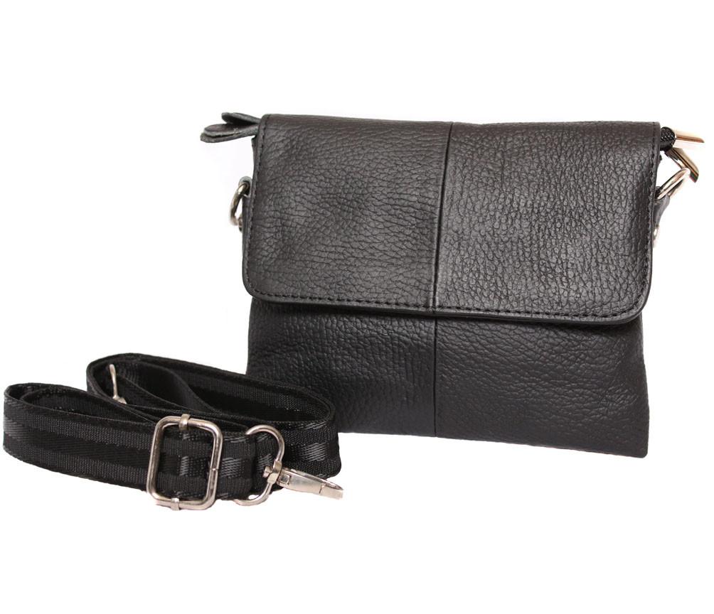 Мужская кожаная сумка 300145 черная