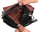 Мужская кожаная сумка 300145 черная, фото 8