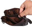 Мужская кожаная сумка 300152 коричневая, фото 7