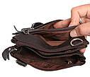 Мужская кожаная сумка 300152 коричневая, фото 8