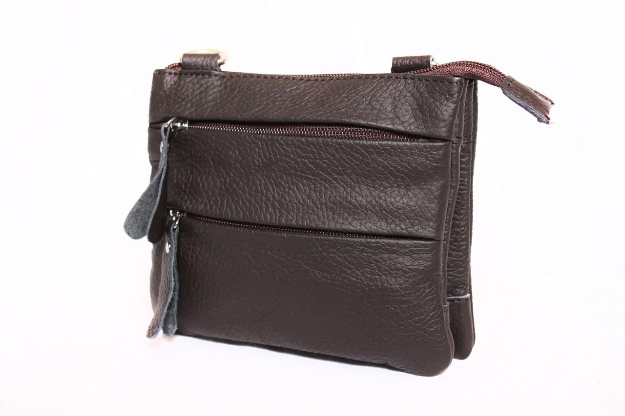 Мужская кожаная сумка 300152 коричневая