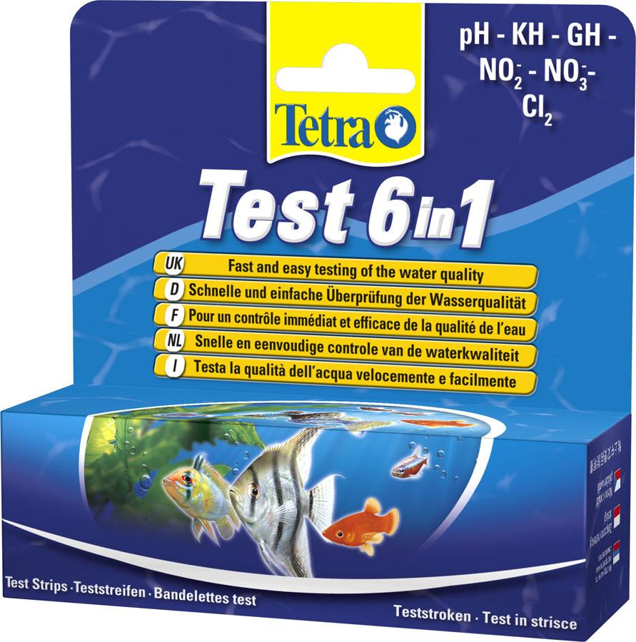 Tetra Test 6 in1 - набор полосок тестов для быстрой и надежной проверки воды - Интернет-магазин «Моё дело» в Харькове